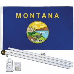 Montana State 2' x 3' Polyester Flag, Pole and Mount
