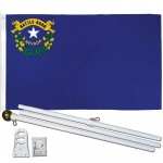 Nevada State 2' x 3' Polyester Flag, Pole and Mount