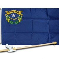 NEVADA STATE 2' X 3'  Flag, Pole And Mount.