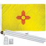 New Mexico State 2' x 3' Polyester Flag, Pole and Mount