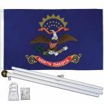 North Dakota State 2' x 3' Polyester Flag, Pole and Mount