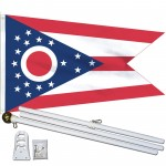 Ohio State 2' x 3' Polyester Flag, Pole and Mount