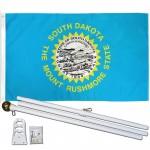 South Dakota State 2' x 3' Polyester Flag, Pole and Mount