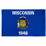 Wisconsin State 2' x 3' Polyester Flag