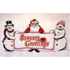 Seasons Greetings 3' x 5' Polyester Flag