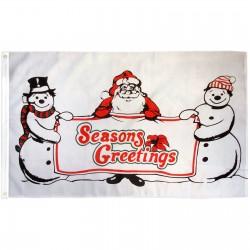 Seasons Greetings 3' x 5' Polyester Flag