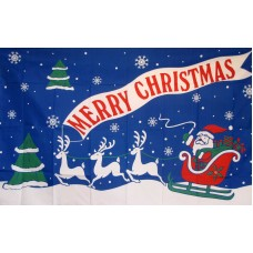 Merry Christmas 3'x 5' Holiday Flag