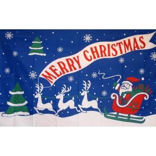 Merry Christmas 3'x 5' Holiday Flag