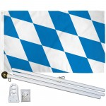Bavaria 3' x 5' Polyester Flag, Pole and Mount