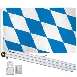 BAVARIA COUNTRY 3' x 5'  Flag, Pole And Mount.