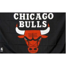 Chicago Bulls Black 3'x 5' NBA Flag