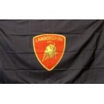 Lamborghini Red Shield 3' x 5' Polyester Flag