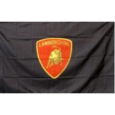 Lamborghini Black/Red Automotive Logo 3' x 5' Flag