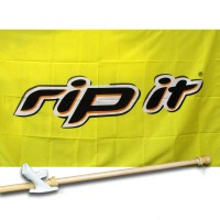 RIP IT 3' x 5'  Flag, Pole And Mount.