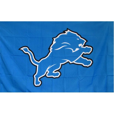 Detroit Lions Mascot 3' x 5' Polyester Flag