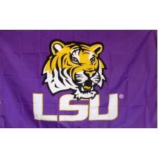 LSU Tigers Purple 3'x 5' Flag