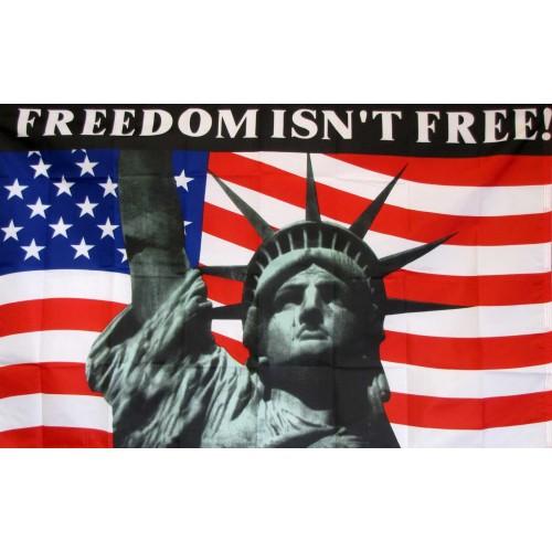 Atlanta Falcons Colors Red >> Freedom Isn't Free 3' x 5' Flag (F-1714) - by www.neoplexonline.com