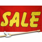 Sale Red Yellow 3' x 5' Polyester Flag, Pole and Mount
