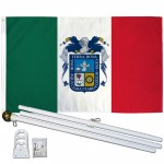 Aguascalientes Mexico State 3' x 5' Polyester Flag, Pole and Mount