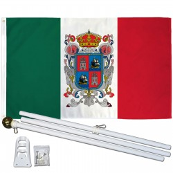 Campeche Mexico State 3' x 5' Polyester Flag, Pole and Mount