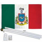 Colima Mexico State 3' x 5' Polyester Flag, Pole and Mount