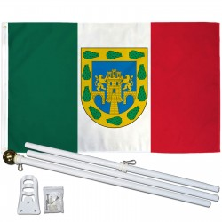 Distrito Federal Mexico State 3' x 5' Polyester Flag, Pole and Mount