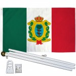 Durango Mexico State 3' x 5' Polyester Flag, Pole and Mount