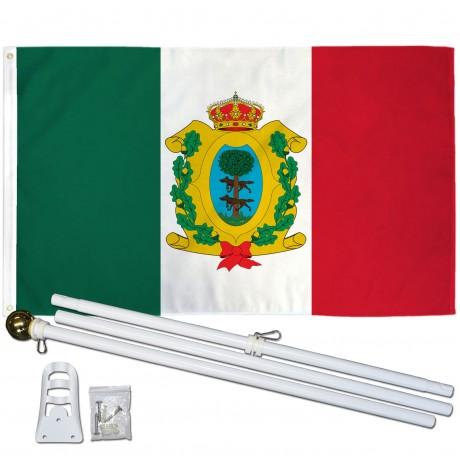 Durango Mexico State 3' x 5' Polyester Flag, Pole and Mount