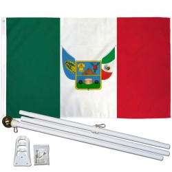 Hidalgo Mexico State 3' x 5' Polyester Flag, Pole and Mount