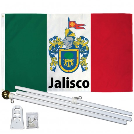 Jalisco Mexico State 3' x 5' Polyester Flag, Pole and Mount
