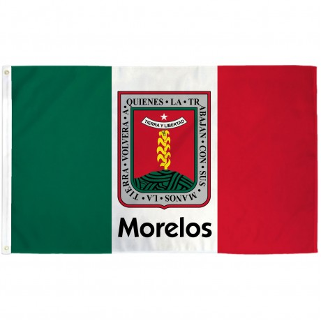 Morelos Mexico State 3' x 5' Polyester Flag
