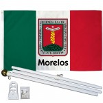 Morelos Mexico State 3' x 5' Polyester Flag, Pole and Mount