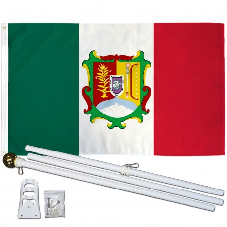 Nayarit Mexico State 3' x 5' Polyester Flag, Pole and Mount