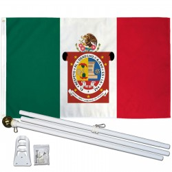 Oaxaca Mexico State 3' x 5' Polyester Flag, Pole and Mount