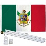Queretaro Mexico State 3' x 5' Polyester Flag, Pole and Mount