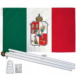 Tabasco Mexico State 3' x 5' Polyester Flag, Pole and Mount