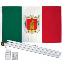 Tlaxcala Mexico State 3' x 5' Polyester Flag, Pole and Mount