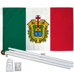Veracruz Mexico State 3' x 5' Polyester Flag, Pole and Mount