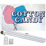 Cotton Candy 3' x 5' Polyester Flag, Pole and Mount