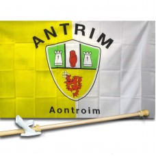 ANTRIM IRELAND COUNTY 3' x 5'  Flag, Pole And Mount.