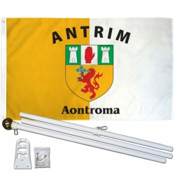 Antrim Ireland County 3' x 5' Polyester Flag, Pole and Mount
