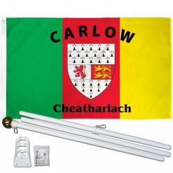 Carlow Ireland County 3' x 5' Polyester Flag, Pole and Mount