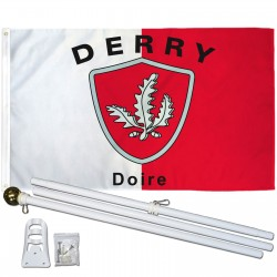 Derry Ireland County 3' x 5' Polyester Flag, Pole and Mount