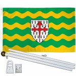 Donegal Ireland County 3' x 5' Polyester Flag, Pole and Mount