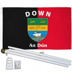 Down Ireland County 3' x 5' Polyester Flag, Pole and Mount