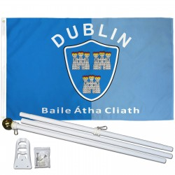 Dublin Ireland County 3' x 5' Polyester Flag, Pole and Mount