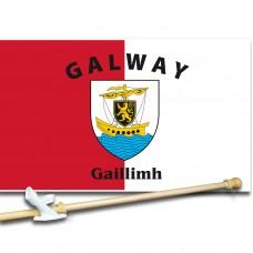 Galway Ireland 3' x 5' Flag, Pole and Mount