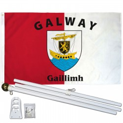 Galway Ireland County 3' x 5' Polyester Flag, Pole and Mount
