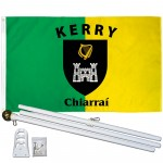 Kerry Ireland County 3' x 5' Polyester Flag, Pole and Mount