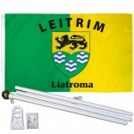 Leitrim Ireland County 3' x 5' Polyester Flag, Pole and Mount
